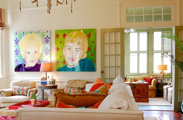 Эклектика в интерьере гостиной фото 4