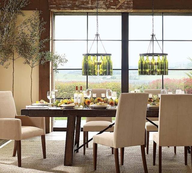 Эко-стиль в интерьере столовой комнаты