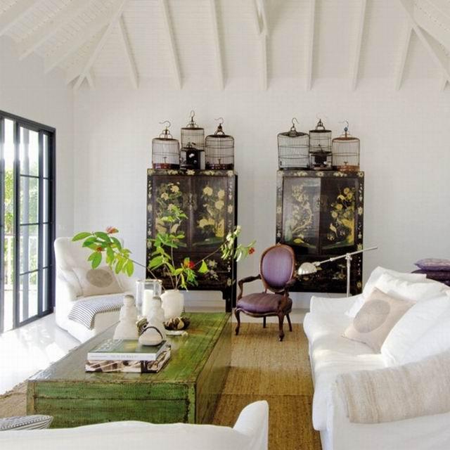 Эко-стиль в интерьере загородной гостиной