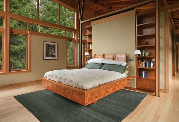 Загородная спальня в экостиле
