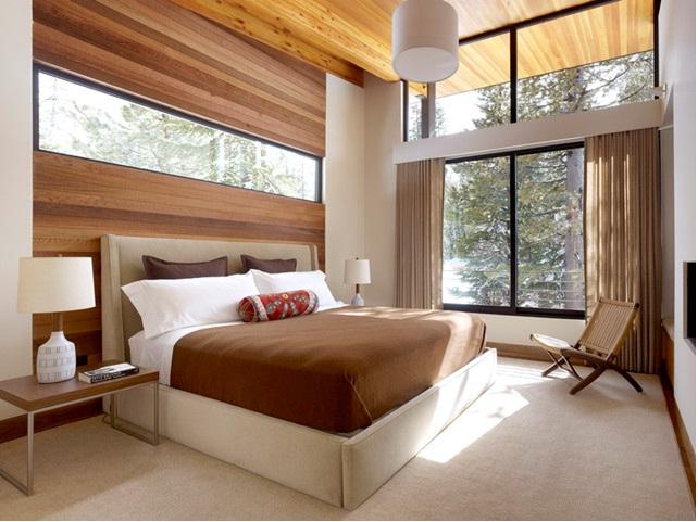 Дизайн большой спальни в экостиле
