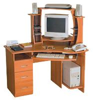 Компьютерный стол КС-12/1Т правый и надстройка КН-2