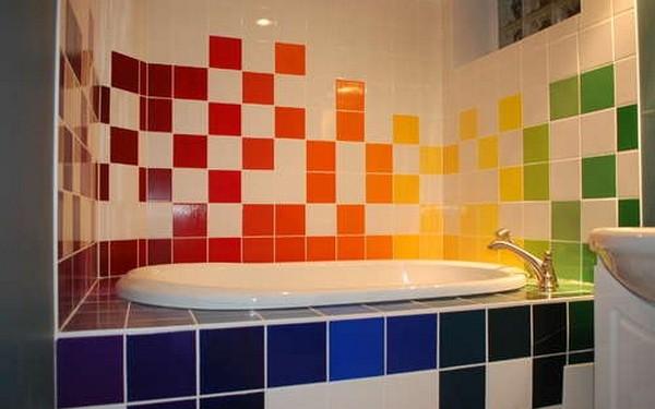 плитка для яркой ванной комнаты (4)