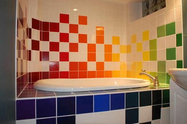 плитка для яркой ванной комнаты