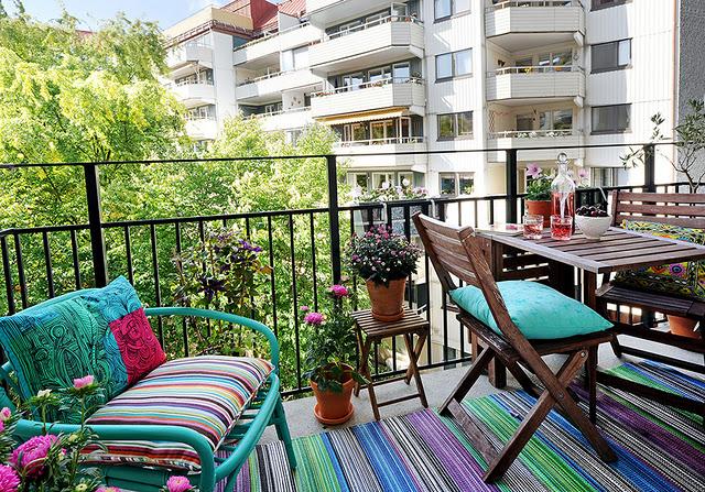 дизайн балкона - пол