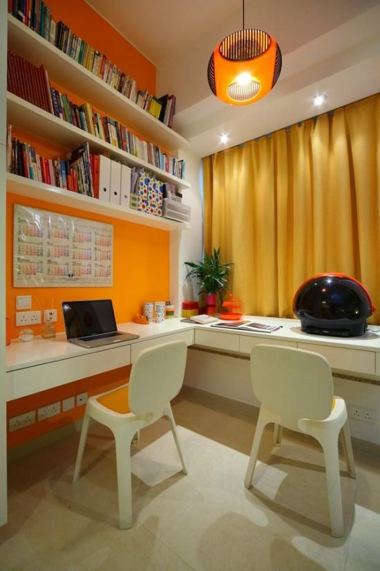 домашний офис в интерьере двухкомнатной квартиры