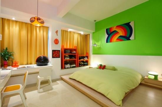 Интерьер двухкомнатной квартиры в ритме радуги (19)