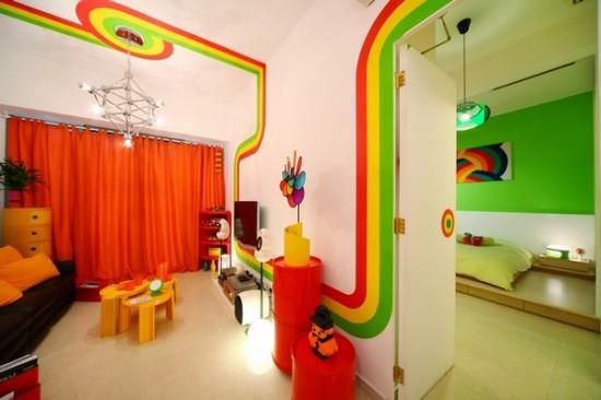 гостиная в интерьере двухкомнатной квартиры