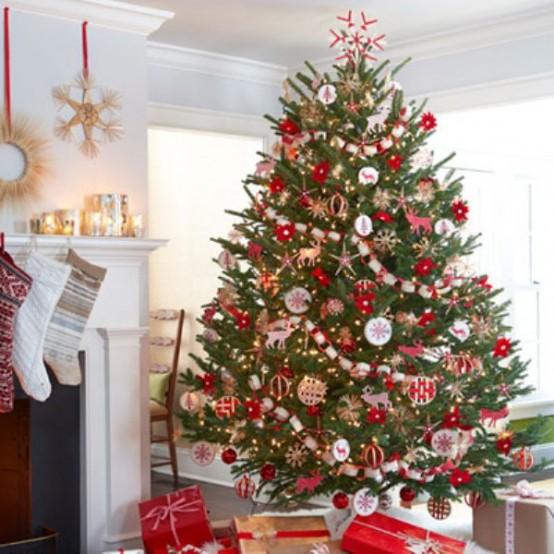 Новогодняя елка интерьер фото 2