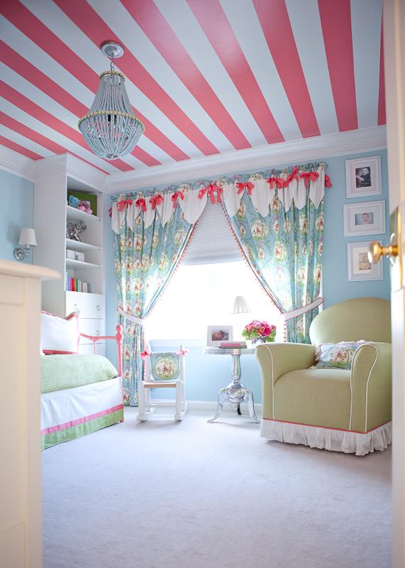 дизайн детская комнаты в бирюзовых тонах
