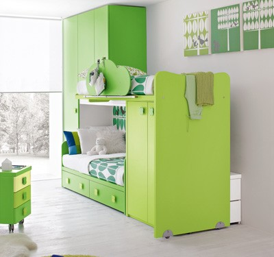 Детская спальня в свежих оттенках (4)