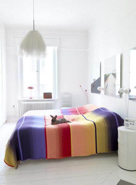 цветовые акценты в спальне