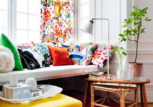 цветовые акценты в гостиной