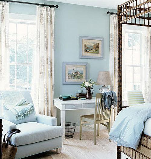 Однотонные интерьеры спальни