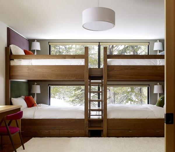 Двухъярусная кровать для четырех детей
