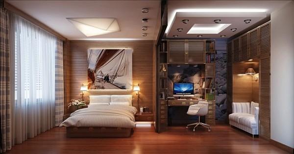 Офис в спальне фото 1