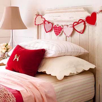 интерьер ко дню Святого Валентина