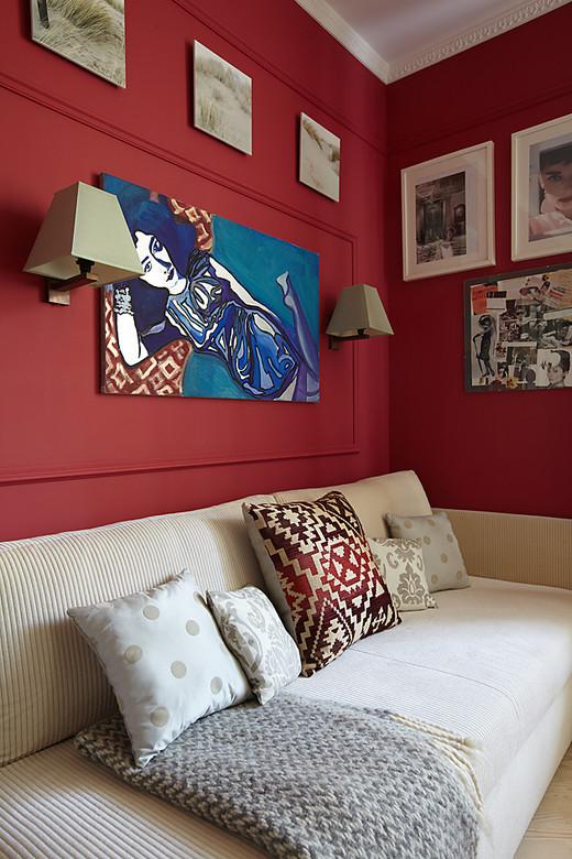 интерьер кабинета в трехкомнатной квартире