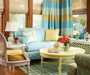 освещённая солнцем комната дизайн