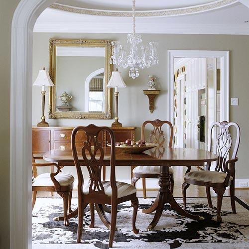 интерьер столовой под куполом фото