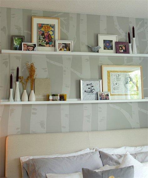 спальная комната в сером цвете фото 1