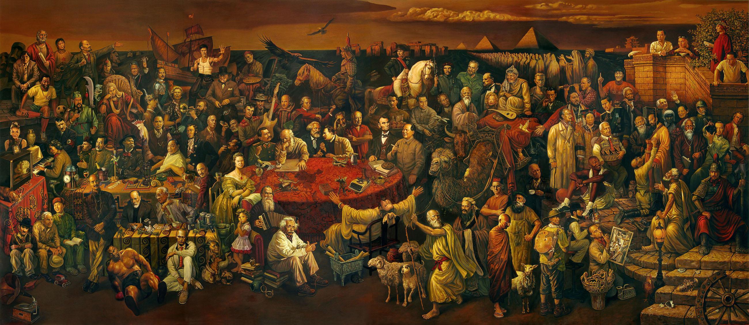 картины для интерьера «Обсуждение Божественной комедии с Данте», Даи Дуду