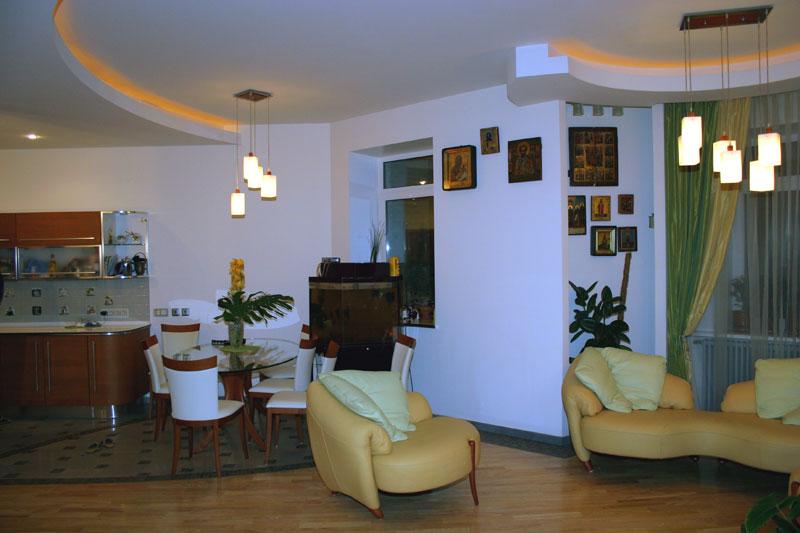кухня совмещенная с гостиной в 5-ти комнатной квартире