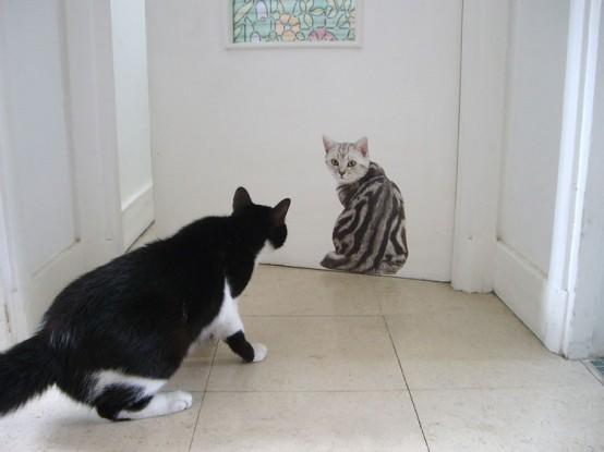 Интерьеры с котиками