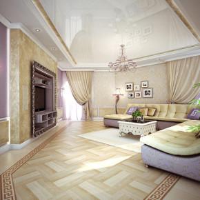 Дизайн проект гостиной – фото 367