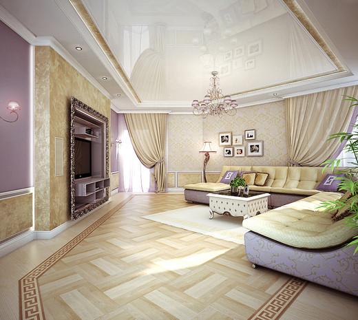 интерьер гостиной - Многокомнатная квартира