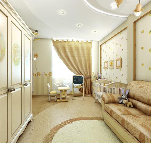 детская комната - Многокомнатная квартира