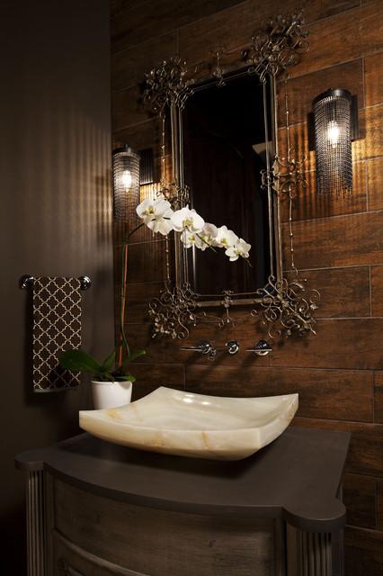коричневая ванная фото 6