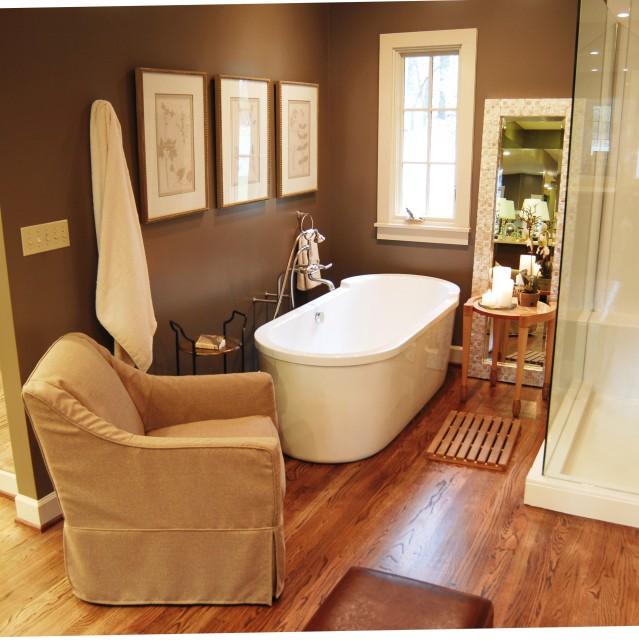 коричневая ванная фото 1