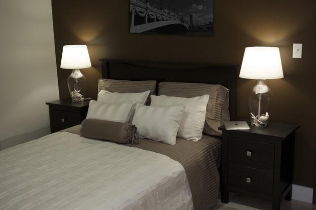 коричневая спальня фото 16