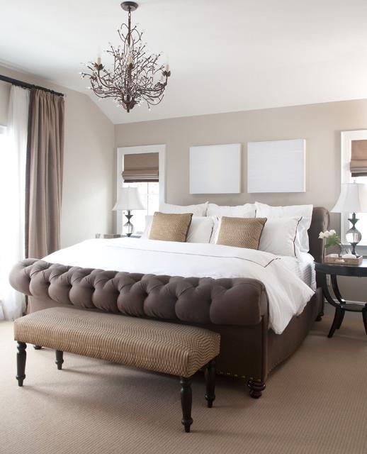 коричневая спальня фото 14