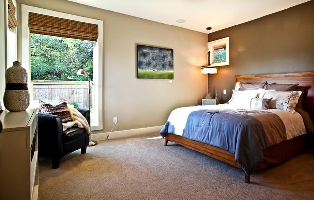 коричневая спальня фото 6