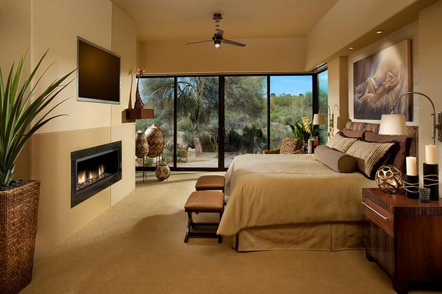 коричневая спальня фото 4