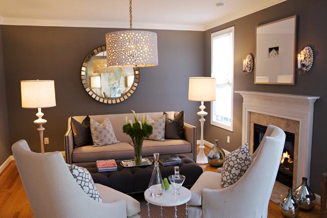 коричневая гостиная фото 12