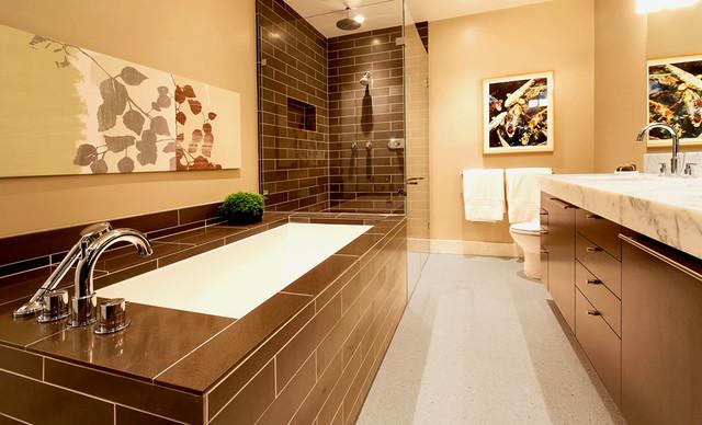 коричневая ванная фото 13