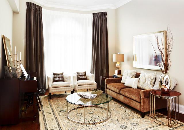 коричневая гостиная фото 9