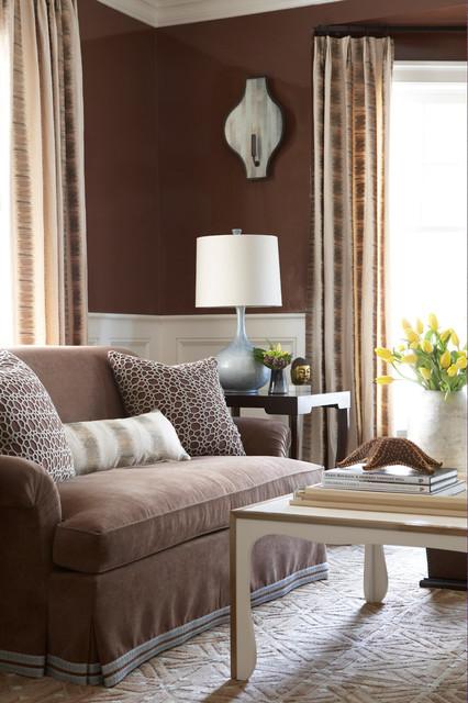 коричневая гостиная фото 8