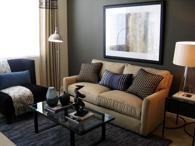 коричневая гостиная фото 1