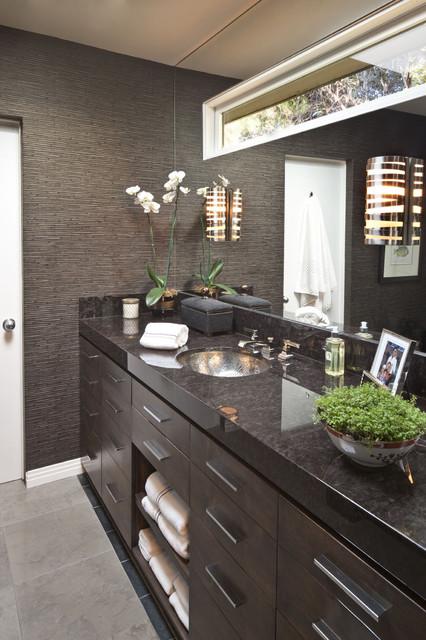 коричневая ванная фото 12