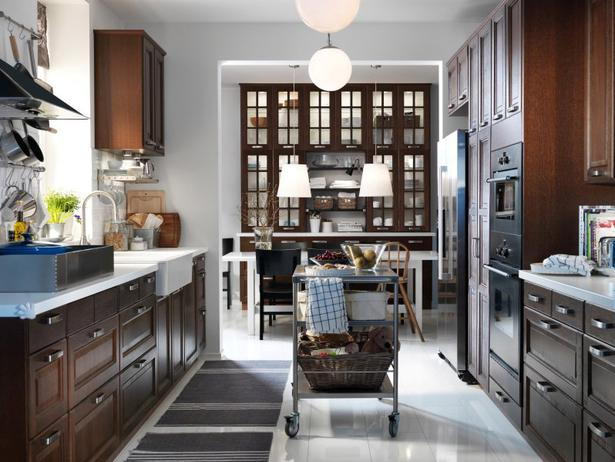 Коричневая кухня фото 5