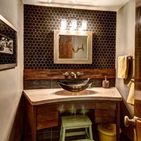 Отделка ванной комнаты – фото 54