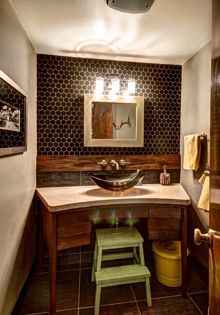 коричневая ванная фото 11