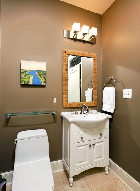 коричневая ванная фото 8
