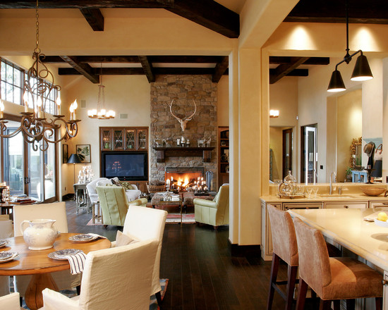 дизайн гостиной совмещенной с кухней фото 1