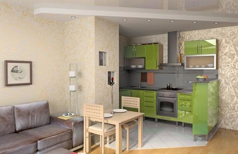 дизайн кухни совмещенной с гостиной фото 6