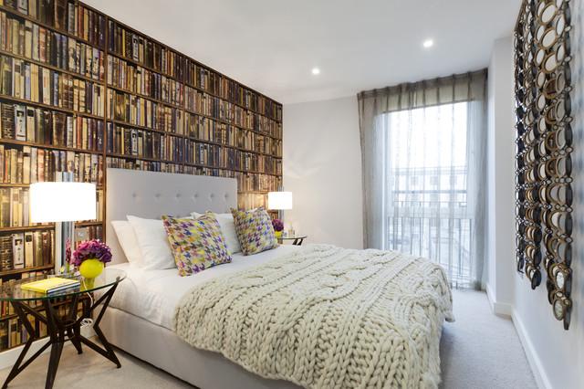 интерьер спальни с фотообоями фото
